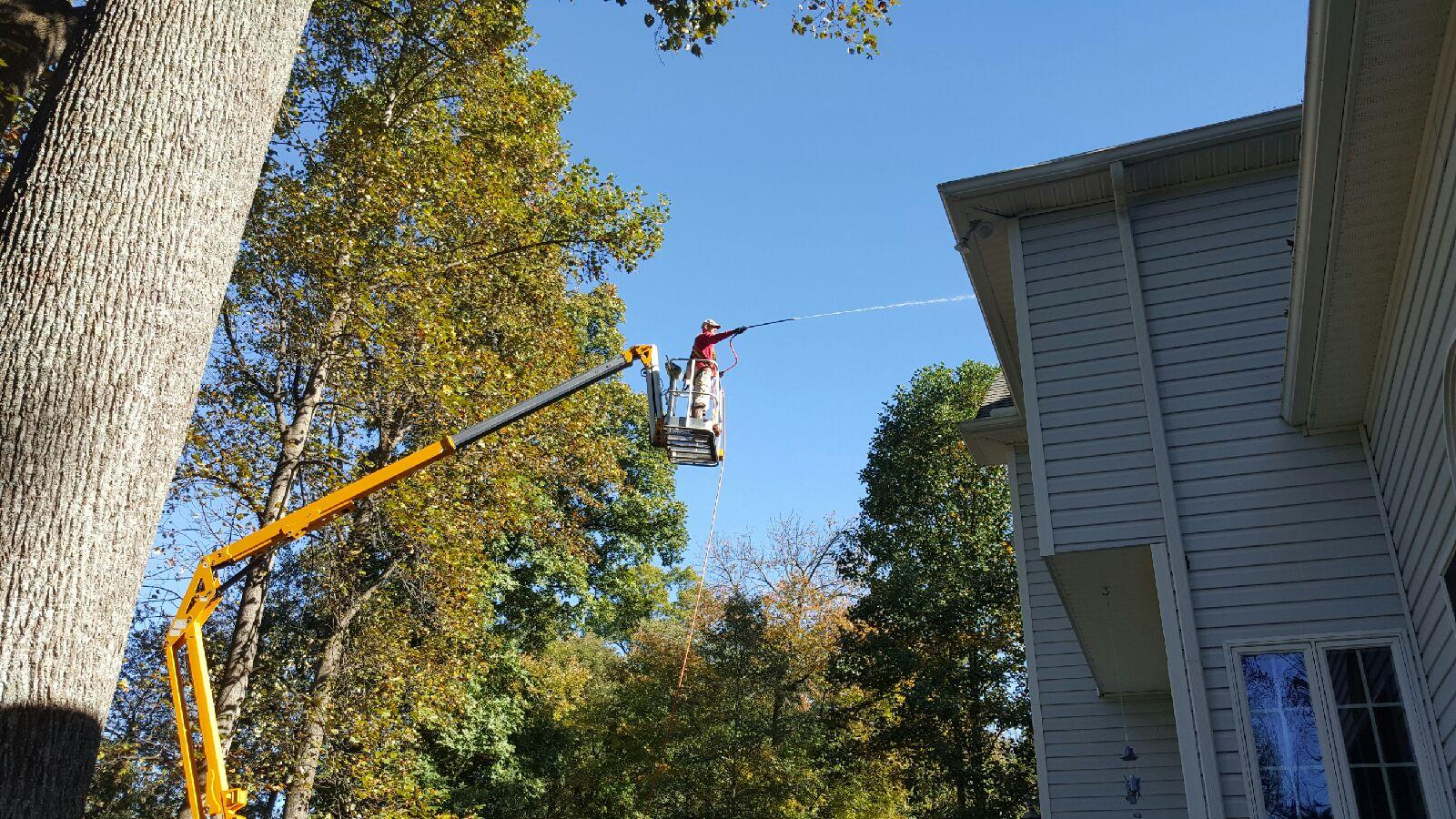 Boom Lift | Soft Wash Roof Service in Hagerstown MD