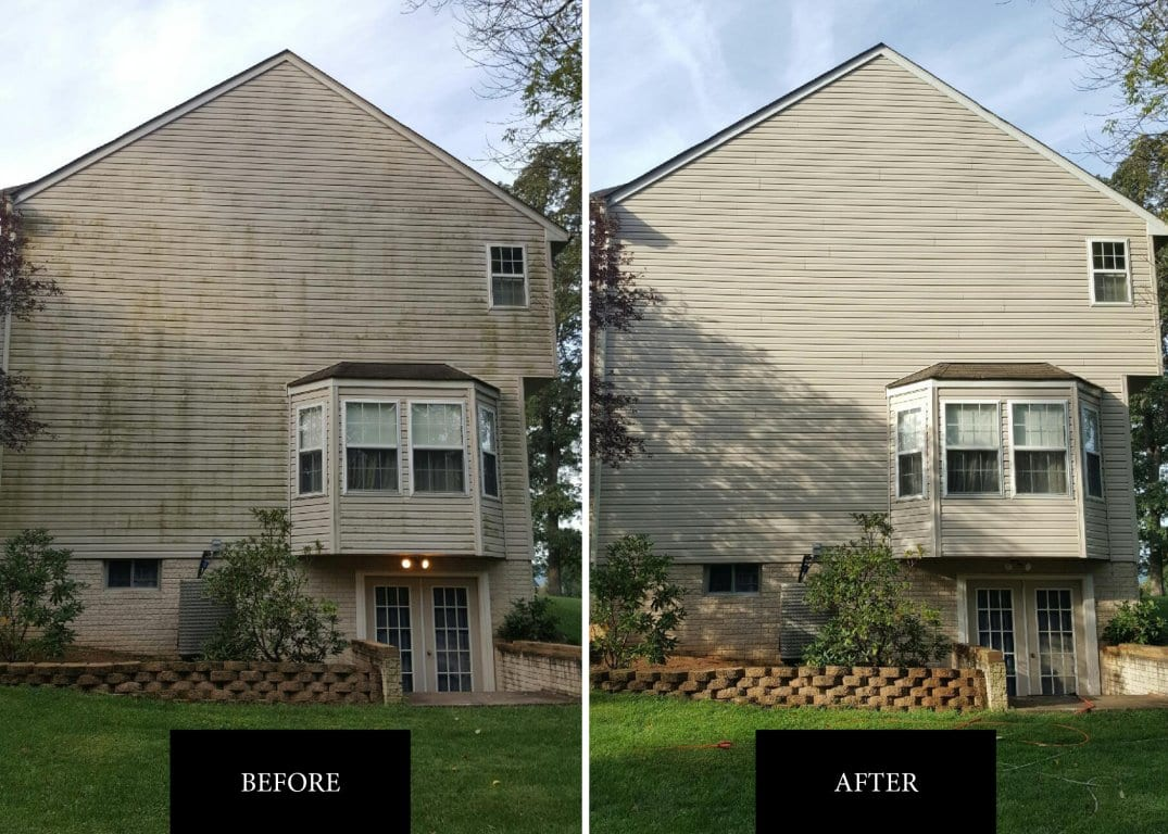 Before after | Soft Wash Roof Company in Chambersburg PA
